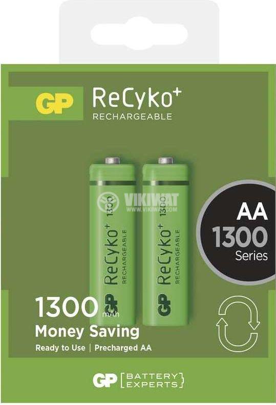 Rechargeable battery GP, AA, NiMH, 1.2VDC, 1000mAh