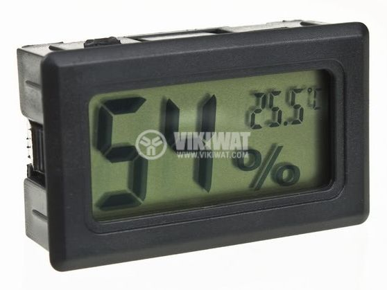 Дигитален влагомер-термометър LCD124 без външна сонда - 1