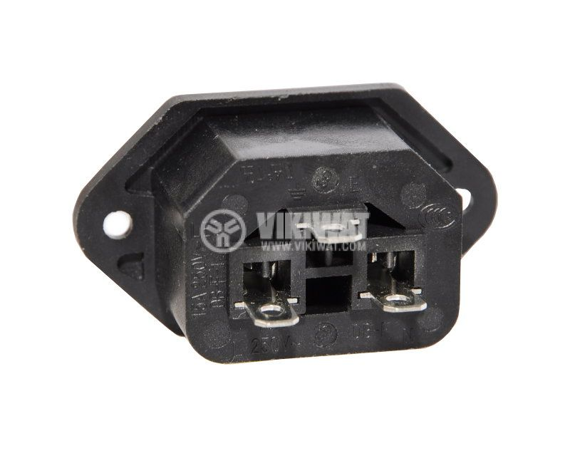 Power AC socket, DB-F-1, 10A/250VAC, male - 2