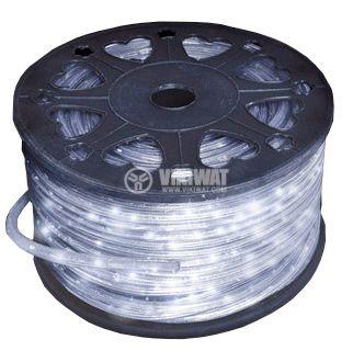 Светещ маркуч лампов прозрачен 16W/m, 36 лампи/m, топло бял