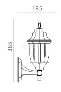 Градинска лампа Pacific Middle 01, Е27, стенна черна - 2