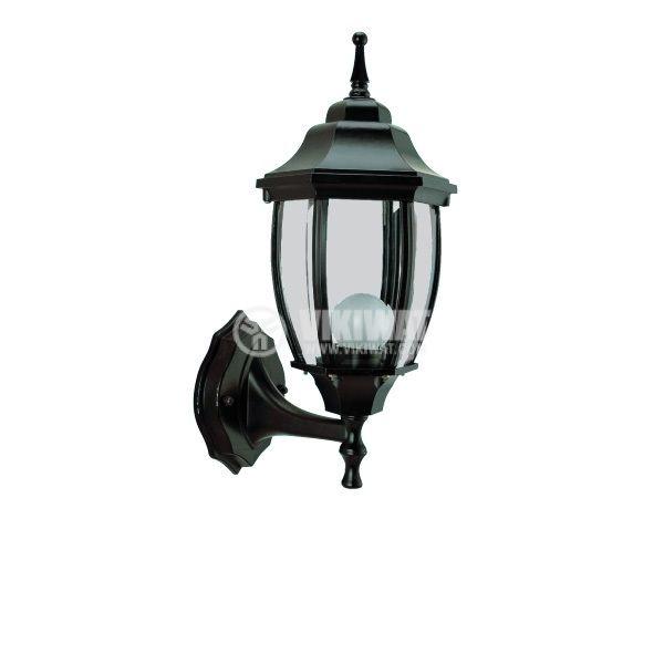 Градинска лампа Pacific Middle 01, Е27, стенна черна - 1
