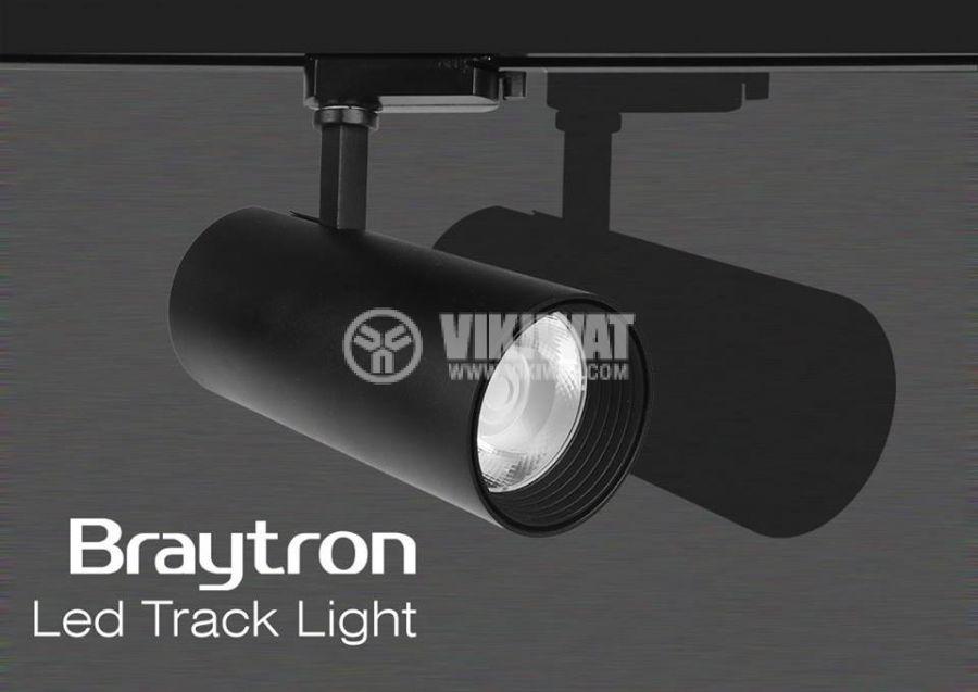 LED COB Track Light SHOPLINE-B, 12W, 220VAC, 850lm, 3000K, warm white, BD30-01001, black body - 3