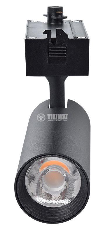 LED COB релсов прожектор SHOPLINE-B, 15W, 1180lm, 3000K, топлобял, BD30-01001, черен корпус - 9