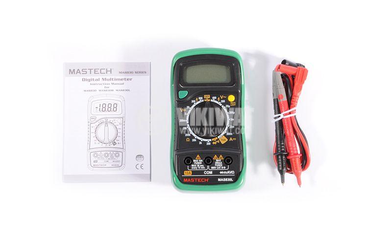Multimeter MAS830L Vdc Vac Adc Ohm - 4