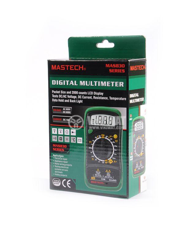 Digital Multimeter MAS830L, LCD (2000) Vdc, Vac, Adc, Ohm - 5