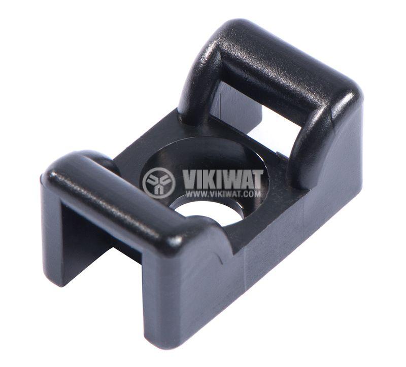 Държач за кабелни превръзки KR6G5-PA66-BK, 12x18mm, черен - 1