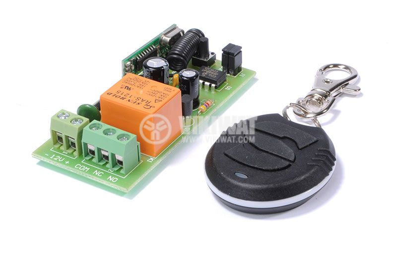 Module, radio control, single-channel, frequency 433.92Hz, 12VDC - 2