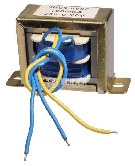 Трансформатор 220 / 2 x 20 VAC, 40 VA - 1