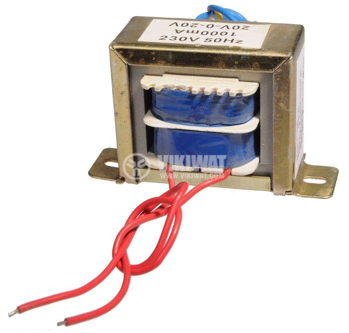 Трансформатор 220 / 2 x 20 VAC, 40 VA - 2