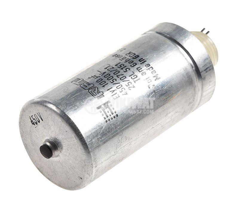 Електролитен кондензатор Elyt 100uF, 450V, THT, ф35x83mm - 2