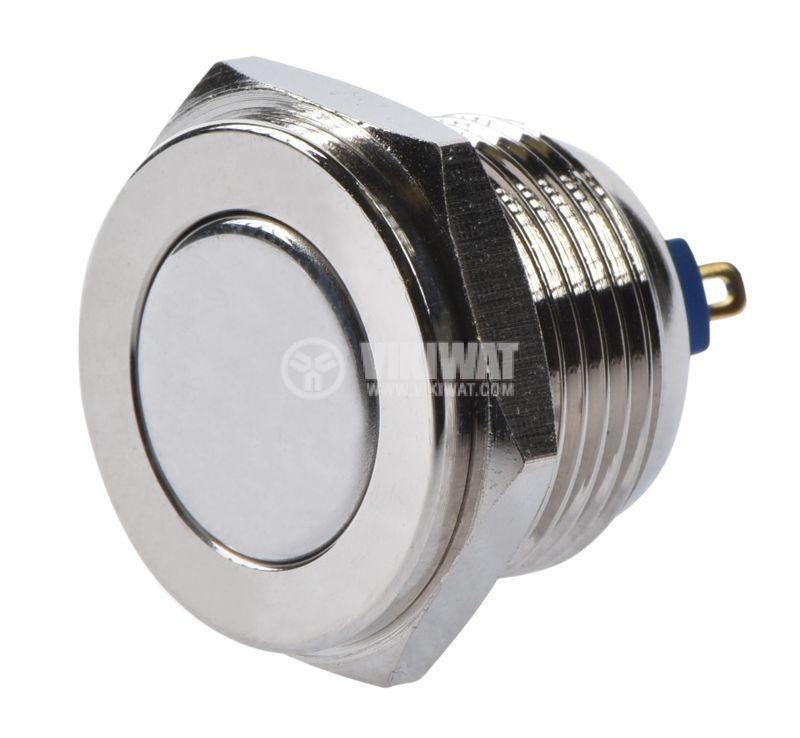 Button, V16-10PFJ-N, 2A, 36VDC, SPST NO, non-holding - 1