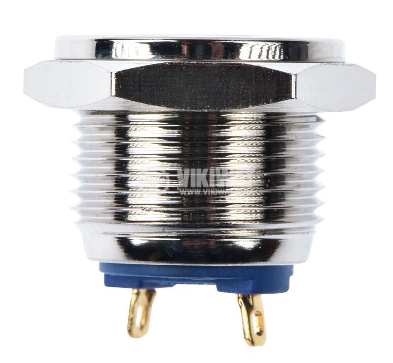 Button, V16-10PFJ-N, 2A, 36VDC, SPST NO, non-holding - 2