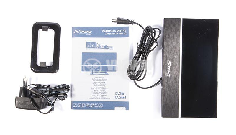 Ефирна DVB-T/T2 стайна антена SRT ANT30, с усилвател - 3