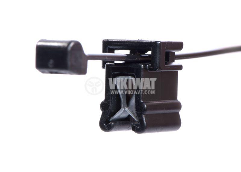 Кабелна превръзка с скоба, Top Fixing T50ROSEC4B, 200mm, черна, за многократна употреба - 2