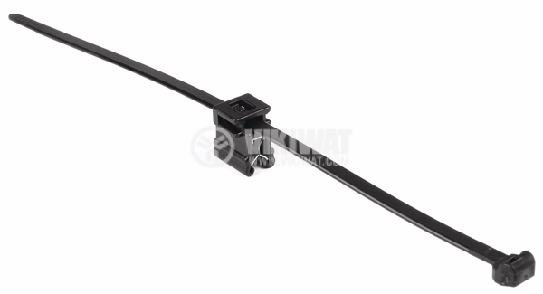 Cable clamp with clamp, Top fixing T50ROSEC4B, 200mm, black, reusable - 3