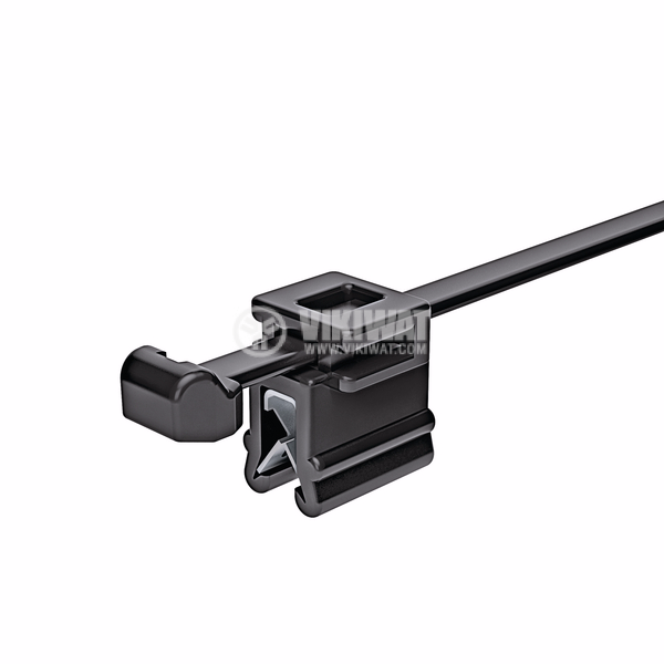 Cable clamp with clamp, Top fixing T50ROSEC4B, 200mm, black, reusable - 4