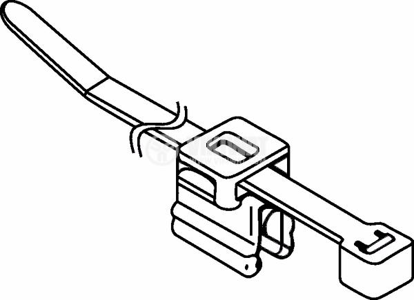 Кабелна превръзка с скоба, Top Fixing T50ROSEC4B, 200mm, черна, за многократна употреба - 5