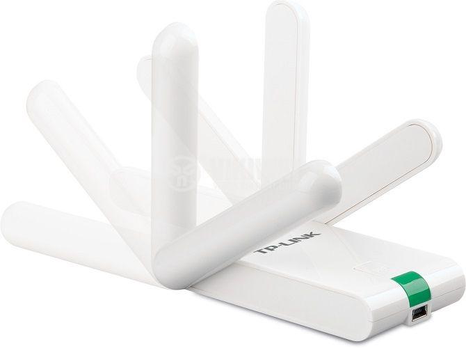 Wi-Fi адаптер за усилване на безжичен сигнал TP-LINK, TL-WN822N, 300Mbps, USB - 3