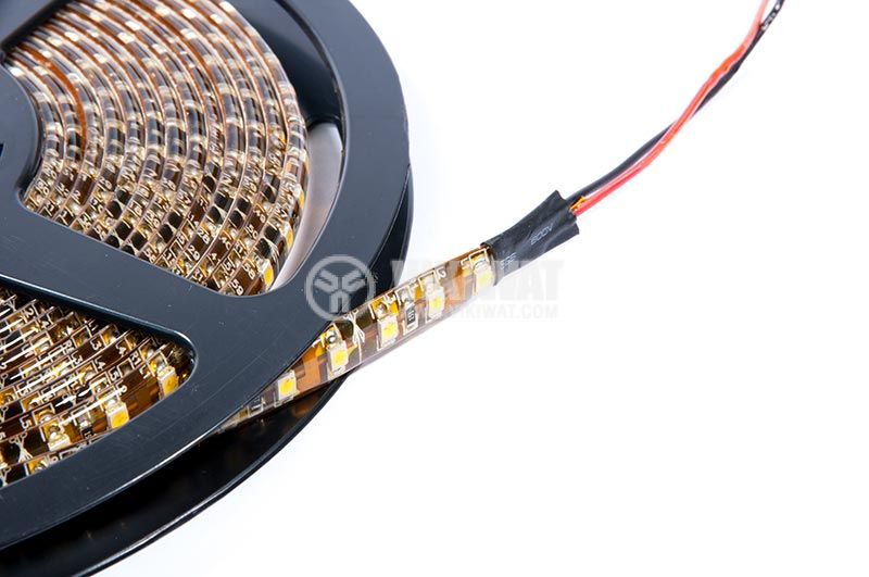 LED strip, waterproof, 120leds, warm white, SMD3528, 12VDC, 9.6W - 2