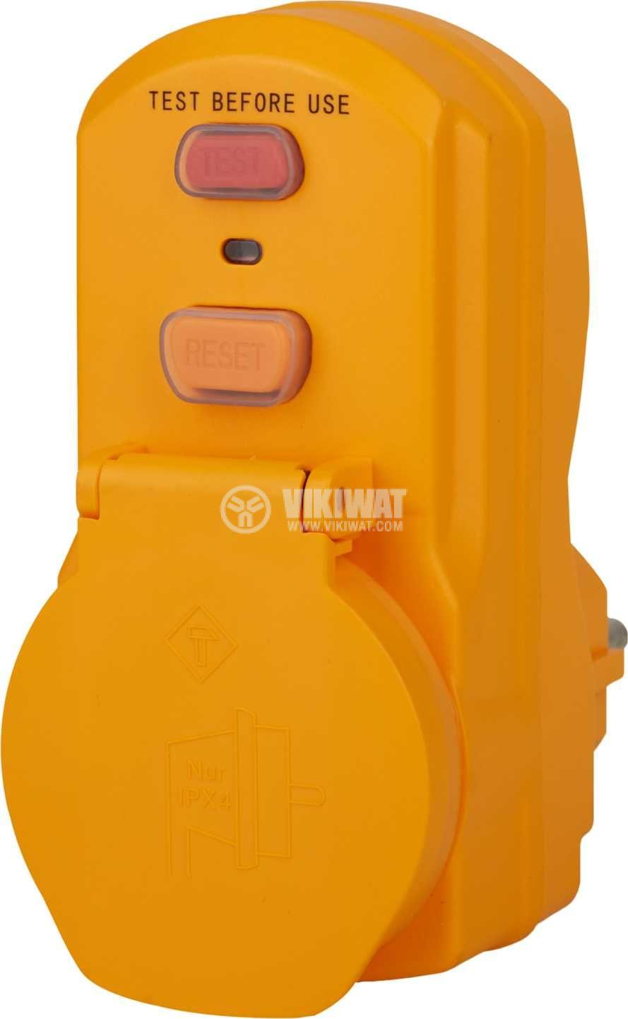 Адаптер - дефектнотокова защита, brennenstuhl, 16A, IP54, 1290660 - 1