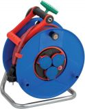 Extension reel, Brennenstuhl, GARANT ROL'UP, Bretec, 3-way, 40m, 3x1.5mm2, thermal protection, blue, 1328930