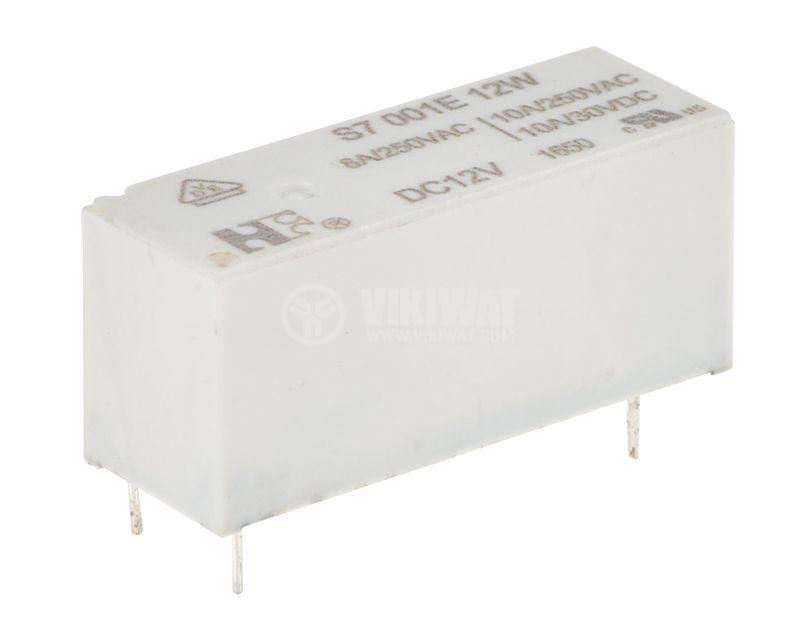 Electromechanical Relay, SPDT, coil 12VDC, 250VAC/10A, S7001E12W