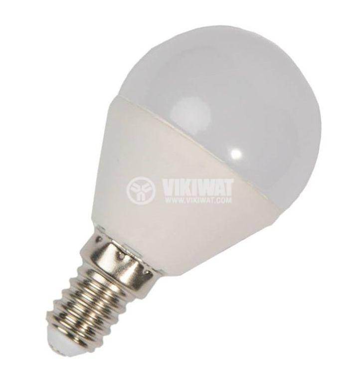 LED лампа 5W, E14, P45, 220VAC, 410lm, 4200K, неутрално бяла, BA41-0511 - 4
