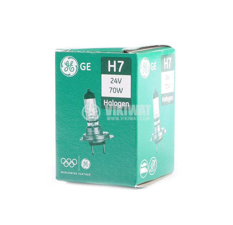 auto halogen lamp, H7, 24 VDC, 70 W, ge58521u - 3