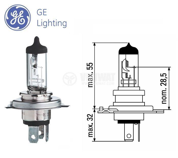 Автомобилна халогенна лампа H4 - 1