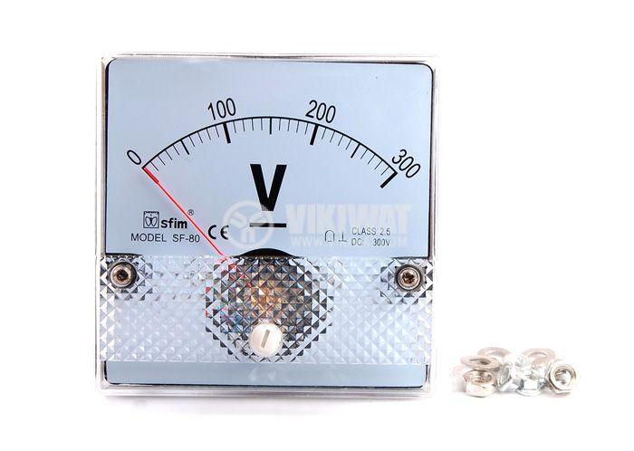 Волтметър 300V SF-80 директно свързване 80x80