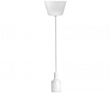 Pendant lamp holder E27, white, 1m lenght, BY45-00100