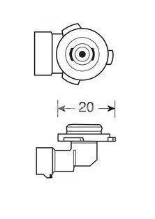 Автомобилна халогенна лампа HB3 - 2