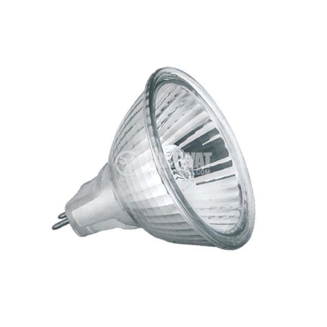 Халогенна лампа, GU5.3, 240VAC, 35W, 3000K, закрита