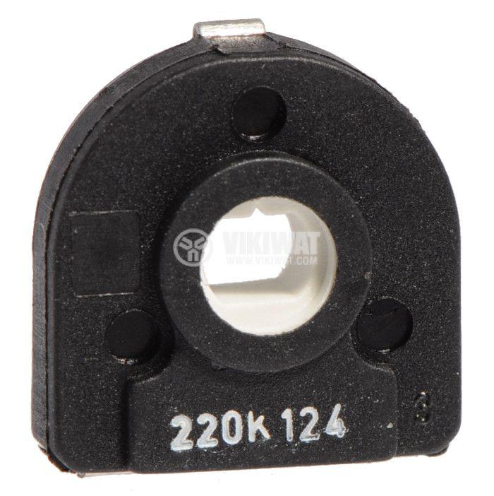 Тример потенциометър еднооборотен линеен, 220 kOhm 0.5 W - 1