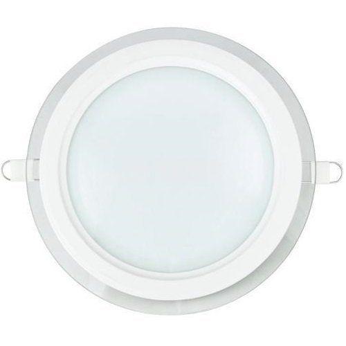 LED панел за вграждане 12W, кръг, 220VAC, 960lm, 6400K, студено бял, ф160mm, стъклена рамка, IP20, невлагозащитен, BL03-1220 - 1