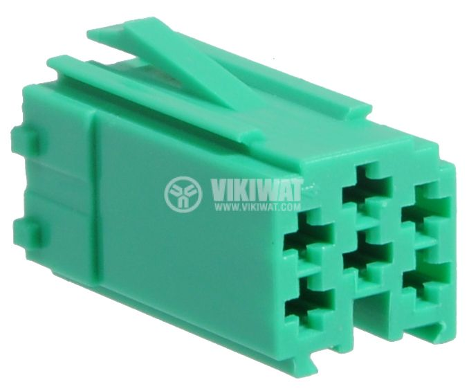 Connector mini ISO, 6 pins, green - 1