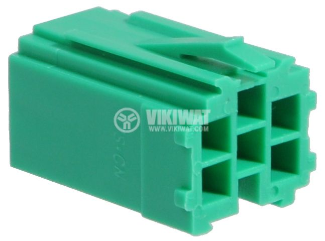 Connector mini ISO, 6 pins, green - 2