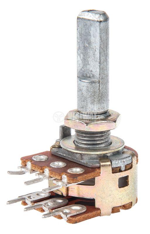 Потенциометър логартмичен 100kOhm стерео