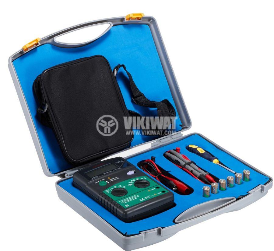 Digital Insulation tester MS5201, 250 - 1000V, 2000 MOhm, DC and AC - 3