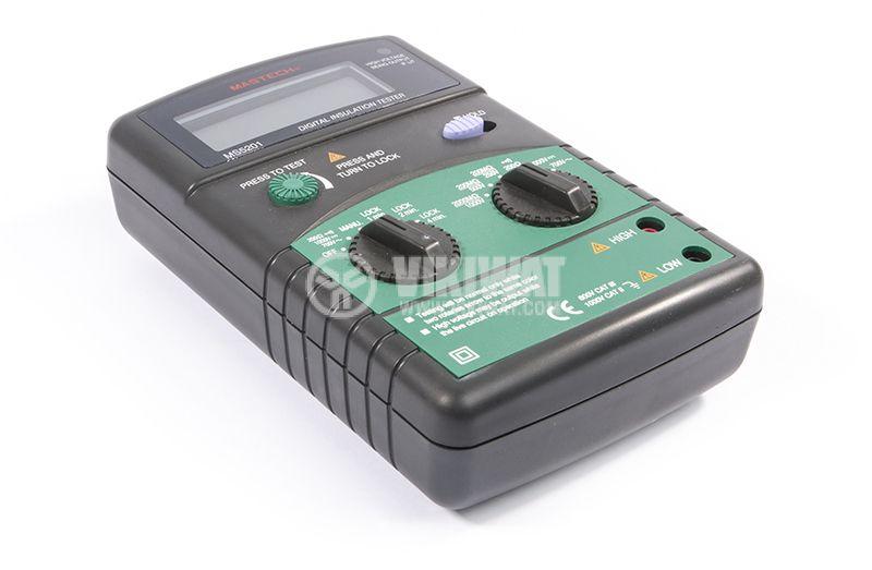 Digital Insulation tester MS5201, 250 - 1000V, 2000MOhm, DC and AC - 5
