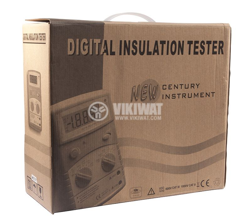 Digital Insulation tester MS5201, 250 - 1000V, 2000MOhm, DC and AC - 8