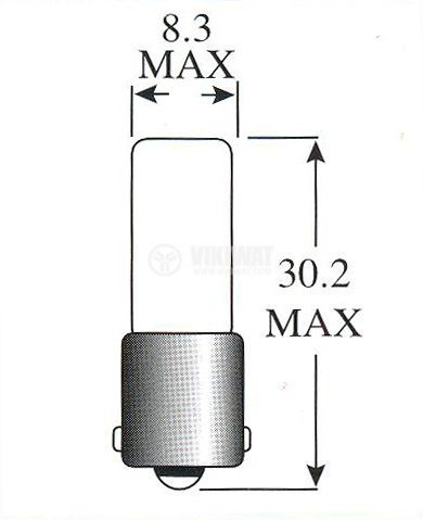 Миниатюрна лампа 60 V 50 mA BA9s - 2
