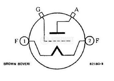 Powerful generator triode T-300-1 Brown Boveri - 2