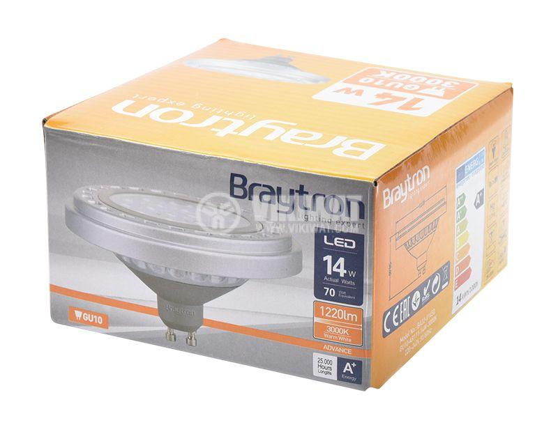 LED лампа AR111, 14W, 220VAC, GU10, 1220lm, 3000K,  BA32-01450  - 11