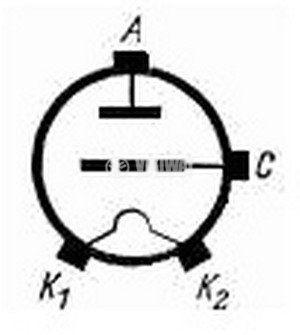 Powerful generator lamp - triode  GU-56 - 3
