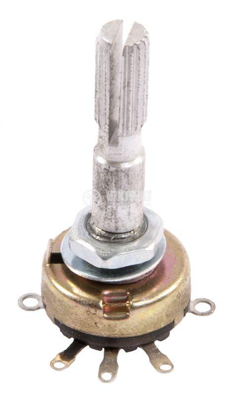Ротационен моно потенциометър с ключ 4.7kOhm