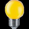 LED лампа 1W, E27, G45, 220VAC, мини сфера, жълта, топче, BA70-0120 - 3