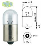 Автомобилна лампа, 12VDC, 5W, R5W, BA15S