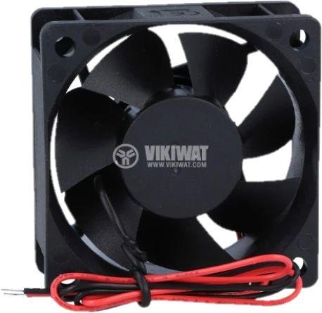 Вентилатор, 12VDC, 60x60x25mm, с втулка, 39.7m3/h - 2